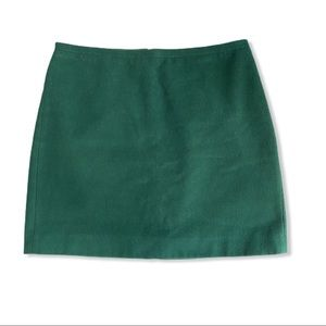 Madewell Forest Green Wool Mini Skirt 4